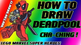How To Draw Deadpool From Lego Marvel Super Heroes