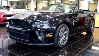 2010 Ford Mustang Shelby GT500 Cobra Black Convertible
