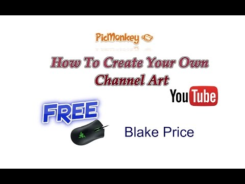 How to create your own channel art free youtube