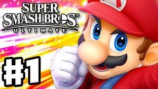 Super Smash Bros Ultimate - Gameplay Walkthrough Part 1 - Mario! Spirits & Classic (Nintendo Switch)