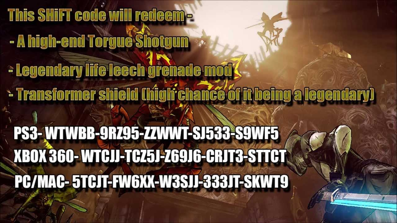 *VALID* Borderlands 2 LEGENDARY SHiFT Codes & Unexpired ... Borderlands 2 Weapon Codes