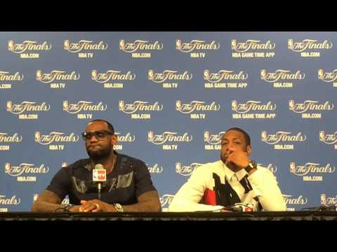 LeBron James and Dwyane Wade speak after the Miami Heat's Game 5 loss to the San Antonio Spurs
