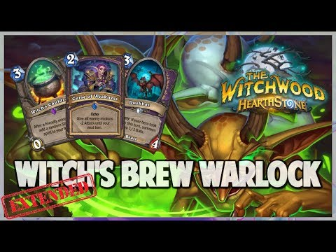 Witch's Brew Warlock | Extended Gameplay | Hearthstone | The Witchwood