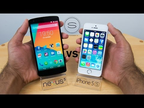 Nexus 5 vs iPhone 5s - Hands-on