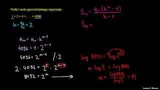 Končna geometrijska vrsta – naloga 2