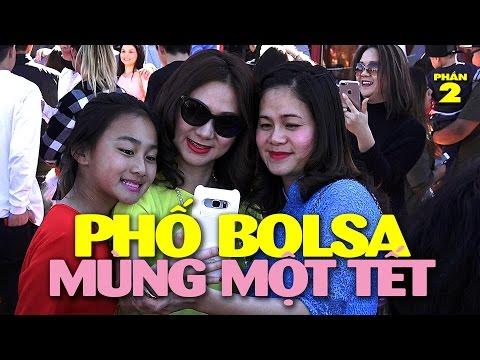 Pháo, Lân, áo dài, và những nét Việt cổ truyền trên phố Bolsa mùng Một Tết