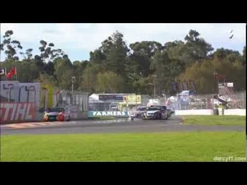 Wilson and Skinner Huge Crash @ 2014 V8 Utes Adelaide Practice