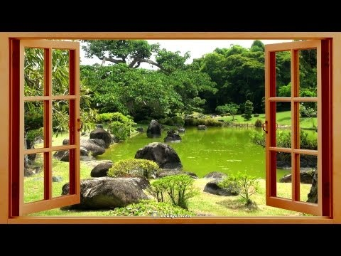 Relaxing Sounds of Nature, Birds, Wind & Water in Japanese Gardens