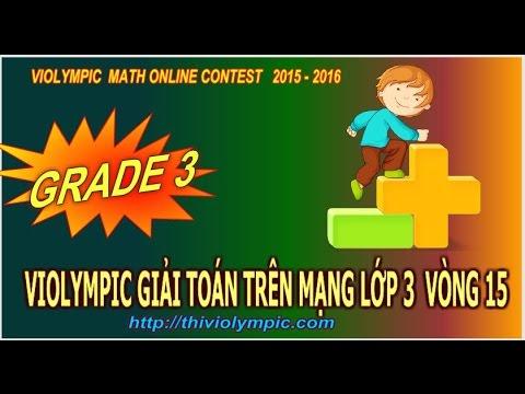 Violympic Giải toán trên mạng Lớp 3 Vòng 15 năm 2016