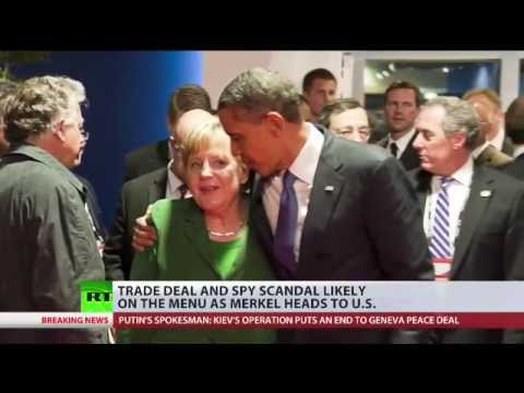 Russian sanctions, NSA spying top the agenda at Merkel's White House visit