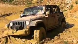 Jeep Wrangler JK Unlimited Recovery out of heavy mud Part 3 videos