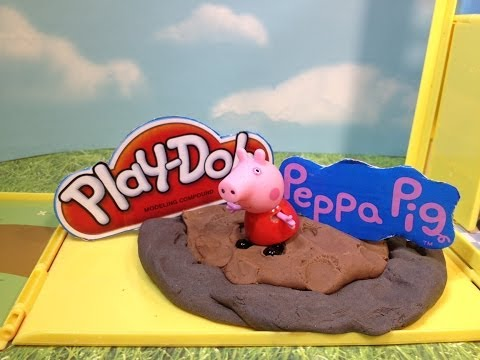 PEPPA PIG & PLAY-DOH  Nickelodeon's Peppa Pig Jumps In the World's LARGEST Muddy Puddle