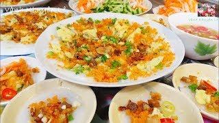Cách pha Bột thứ 1 đổ Bánh Bèo Chén mềm có Xoáy nhân Tôm chấy và Đậu xanh by Vanh Khuyen
