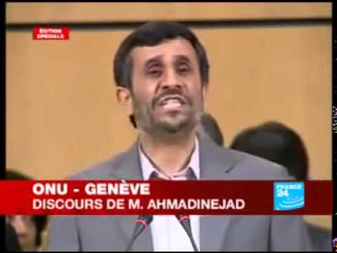 Discours Mahmoud Ahmadinejad à l'ONU, le gouvernement israélien est raciste  320x240MP4