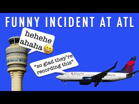 Flight Attendant's Seatbelt Gets Stuck In Cockpit Door Funny ATC Conversation
