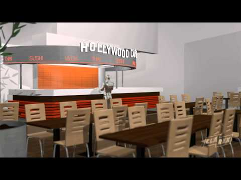 Clarex 3D visualisering - Hollywood Café