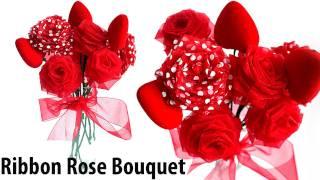 D.I.Y Ribbon Roses/Flower Bouquet