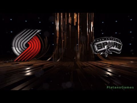 NBA Playoffs - Portland Trail Blazers vs San Antonio Spurs - Game 1 - 1st Qrt - Live 14 - HD