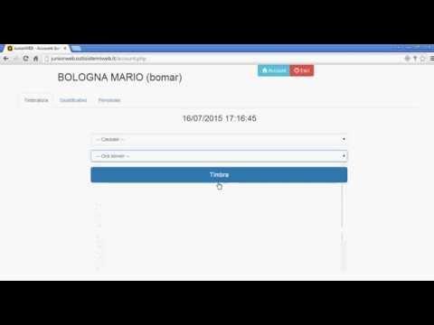 JuniorWEB il dipendente inserisce richiesta ferie/permesso timbra con rilevamento GPS e visualizzazione cartellino