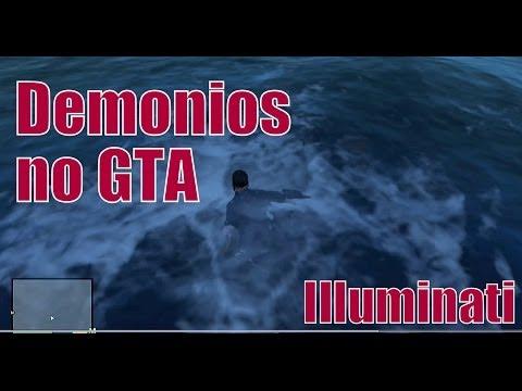 Novo Easter Egg Illuminati! GTA V - Homem, Demônio e anjo encontrados na água. (BR)