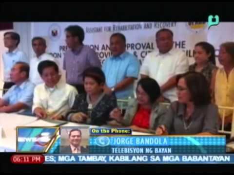 Memorandum of Agreement ukol sa rehabilitasyon ng sinalanta ni Yolanda, nilagdaan [5/30/14]