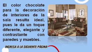 Decoración De Salas Color Chocolate [Ideas Originales