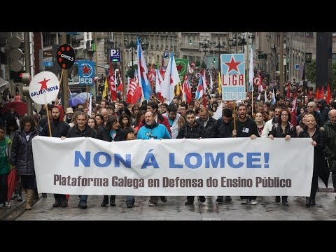 Manifestacións contra a #LOMCE (Vigo e Compostela, 24/10/13)