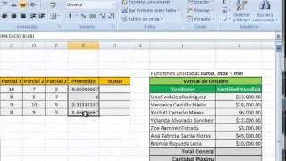 Excel - Funciones o fórmulas