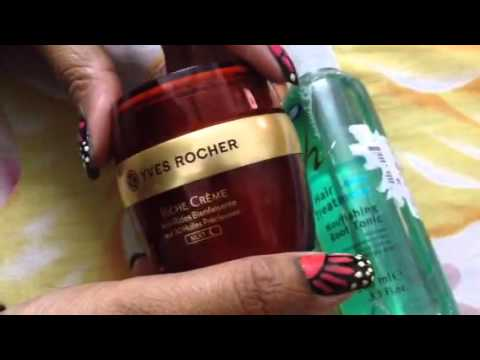 Yves Rocher Rich Anti aging cream and Boots hair root treatment