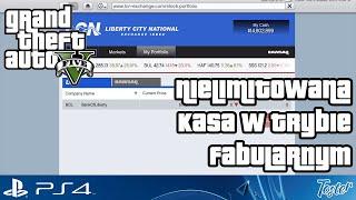 Nielimitowana Kasa W Trybie Fabularnym W GTA V Na PS4 I
