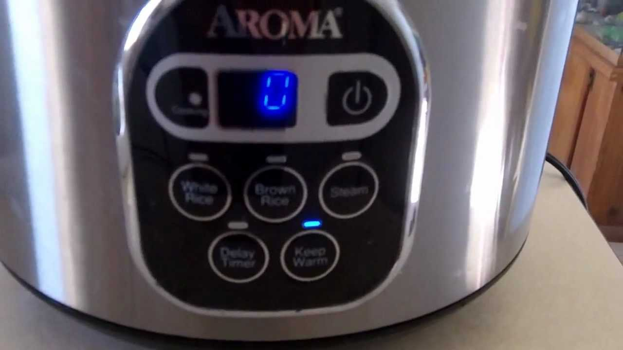 Aroma Digital Rice Cooker AROMA RICE COOKER & FOOD STEAMER - YouTube