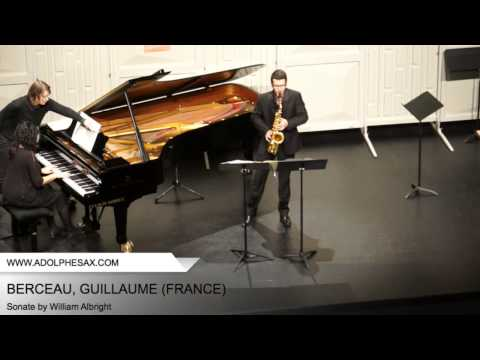 Dinant 2014 - BERCEAU, Guillaume (Sonate by William Albright)