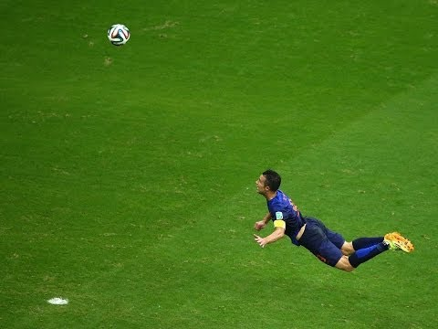 AMAZING Header by Robin Van Persie  Netherlands vs Spain FIFA 2014