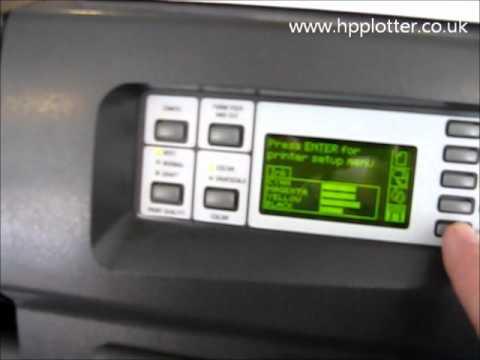 Designjet 1050c/1055cm Series - Print configuration page  on your printer