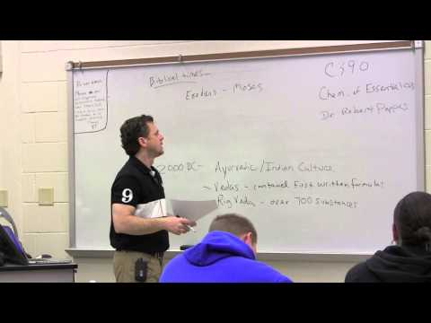 Lecture 1 - The Chemistry of Essential Oils: Intro and A Brief History of Aromatics