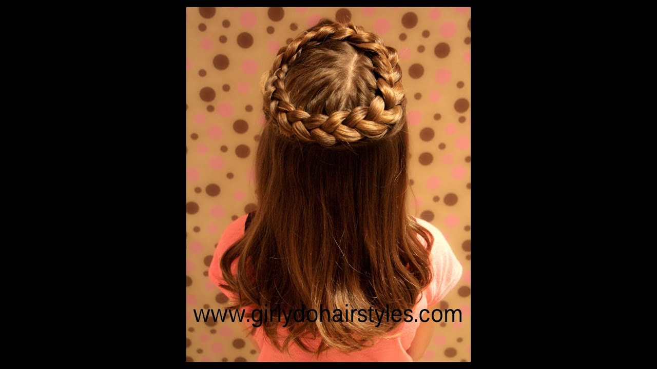 Hairstyles Halo : Halo Braid Hairstyle - YouTube