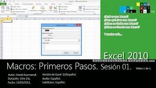 Macros En Excel 2010: Cómo Crear Y Grabar Una Macro Con