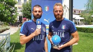 Simone Del Mestre ringrazia i tifosi per il Pallone Azzurro 2015