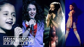 Ariana Grande's Vocal Evolution [ 2001 - 2017 ] | SingersAvenue