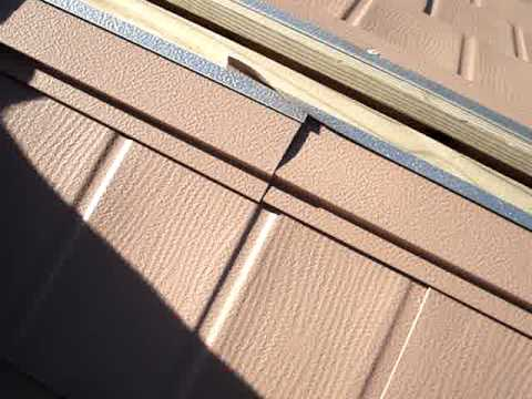 Metal roofing - Ridge-vent installation