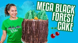 BLACK FOREST Mega Cake!! | How To Cake It