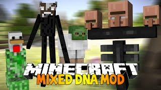 Minecraft: Mixed DNA Mod MIX ANY MOB TOGETHER