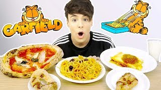 i only ate GARFIELD foods for 24 hours !!!