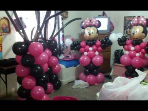 Decoraciones con globo estilo mimi mause por deissy - Decoraciones con globos ...