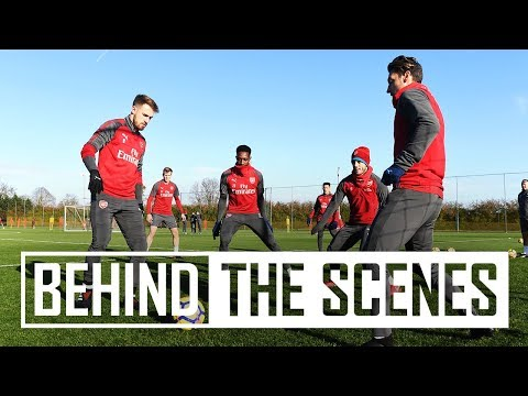 BEHIND THE SCENES: 5v2 in training at London Colney