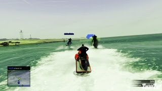 GTA V Multiplayer Gameplay - Jet Ski Race! (Grand Theft Auto 5 Online Game Play)