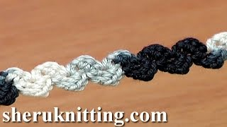 Crochet Simple Zig-Zag Cord Tutorial 36 Single Crochet