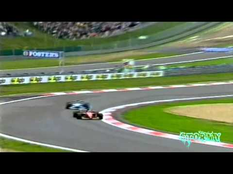 F1 1995 European GP Michael Schumacher vs Jean Alesi INCREDIBLE OVERTAKE!