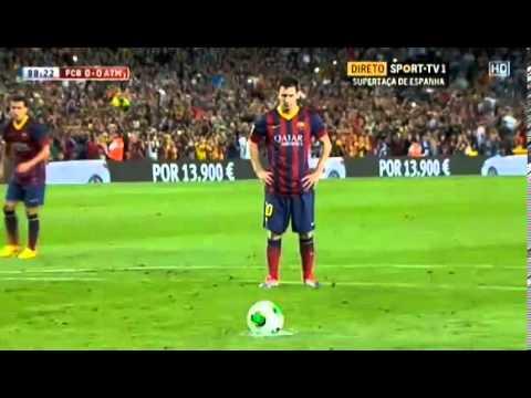Messi falla penal ante Atletico de Madrid.