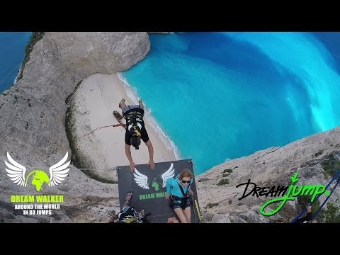 People Are Awesome - highest Dream Jump in Greece - Navagio beach - Bungee Jump